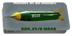 Portable Battery Charger featuring the painting Moab Gbu-43/b by David Lee Thompson