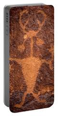 Moab Man Petroglyph Portrait - Utah Portable Battery Charger