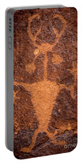Moab Man Petroglyph Portrait - Utah Portable Battery Charger