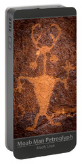 Moab Man Poster Portable Battery Charger by Gary Whitton