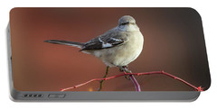 Mocking Bird Morning Square Portable Battery Charger by Bill Wakeley