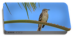Mockingbird In A Palm Tree Portable Battery Charger