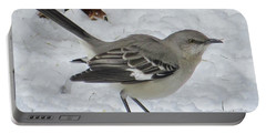 Mockingbird In The Snow Portable Battery Charger