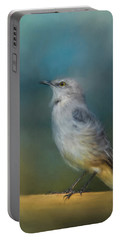 Mockingbird On A Windy Day Portable Battery Charger by Jai Johnson