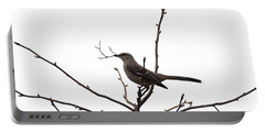 Mockingbird With Twig Portable Battery Charger