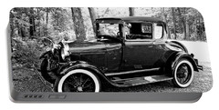 Portable Battery Charger featuring the photograph Model A In Black And White by Trina Ansel