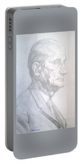 Portable Battery Charger featuring the drawing Model by Elly Potamianos