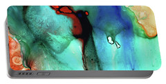 Portable Battery Charger featuring the painting Modern Abstract Art - Color Rhapsody - Sharon Cummings by Sharon Cummings