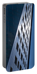 Blue Modern Apartment Building Portable Battery Charger by John Williams