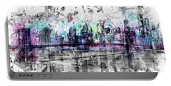 Modern Art New York City Skyline - Splashes  Portable Battery Charger