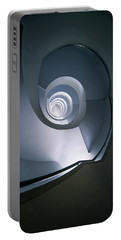 Portable Battery Charger featuring the photograph Modern Blue Spiral Staircase by Jaroslaw Blaminsky