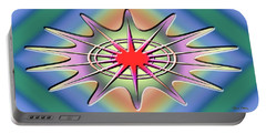Portable Battery Charger featuring the digital art Modern Design Wide 1 by Chuck Staley