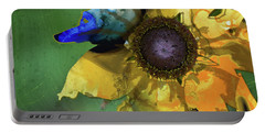 Modern Floral Art - Untamed Beauty - Sharon Cummings Portable Battery Charger