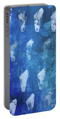 Portable Battery Charger featuring the painting Modern Fossil by Robin Maria Pedrero