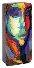 Portable Battery Charger featuring the digital art Modern Impressionist Female Portrait by Rafael Salazar