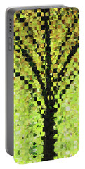 Portable Battery Charger featuring the painting Modern Landscape Art - Pieces 10 - Sharon Cummings by Sharon Cummings