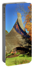 Modern New England Church In Fall Portable Battery Charger