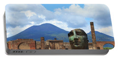 Modern Pompeii Art With Mount Vesuvius Portable Battery Charger