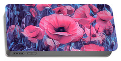 Modern Poppies Portable Battery Charger