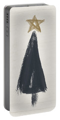 Modern Primitive Black And Gold Tree 3- Art By Linda Woods Portable Battery Charger