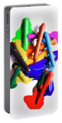 Modern Rainbow Art Portable Battery Charger