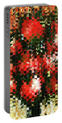 Portable Battery Charger featuring the painting Modern Red Poppies - Pieces 4 - Sharon Cummings by Sharon Cummings