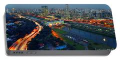 Modern Sao Paulo Skyline - Cidade Jardim And Marginal Pinheiros Portable Battery Charger