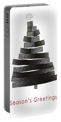 Modern Winter Tree- Season's Greetings Art By Linda Woods Portable Battery Charger