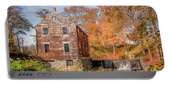 Moffett Mill In Autumn, Lincoln, Ri Portable Battery Charger