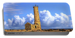 Mohawk Island Lighthouse Portable Battery Charger by Anthony Dezenzio