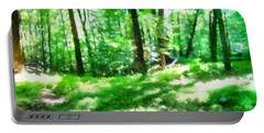 Portable Battery Charger featuring the photograph Mohegan Lake Forever Green by Derek Gedney