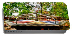 Portable Battery Charger featuring the painting Mohegan Lake Merry-go-round by Derek Gedney