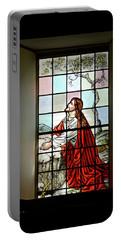 Mokuaikaua Church Stained Glass Window Portable Battery Charger