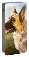Portable Battery Charger featuring the painting Mollie by Marilyn Jacobson