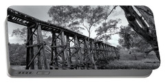 Portable Battery Charger featuring the photograph Mollisons Creek Trestle Bridge by Linda Lees