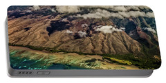 Portable Battery Charger featuring the photograph Molokai From The Sky by Joann Copeland-Paul