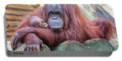 Mom And Baby Orangutan Portable Battery Charger