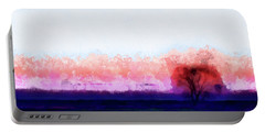 Moment In Blue Horizon Tree Portable Battery Charger by Cedric Hampton