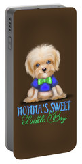 Portable Battery Charger featuring the painting Mommas Sweet Little Boy by Catia Lee