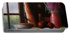 Portable Battery Charger featuring the painting Mom's Apple Pie  by Gene Gregory