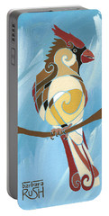 Moms Day Off Female Cardinal Painting Portable Battery Charger