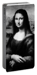 Mona Lisa Halftone Portable Battery Charger