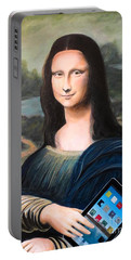 Mona Lisa With Ipad Portable Battery Charger