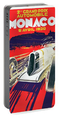Portable Battery Charger featuring the digital art Monaco Grand Prix 1930 by Taylan Apukovska