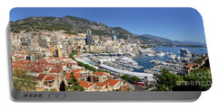 Portable Battery Charger featuring the photograph Monaco Port Hercule Panorama by Yhun Suarez