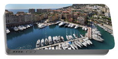 Portable Battery Charger featuring the photograph Monaco Port De Fontvieille  by Yhun Suarez