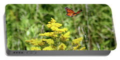 Monarch And Goldenrod Portable Battery Charger