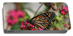 Monarch Butterfly On Fuchsia Portable Battery Charger
