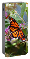 Monarch Butterfly 2 Portable Battery Charger by Allen Beatty