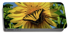Male Eastern Tiger Swallowtail - Papilio Glaucus And Sunflower Portable Battery Charger